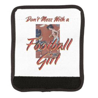 上のフットボールの女の子 ラゲッジ ハンドルラップ