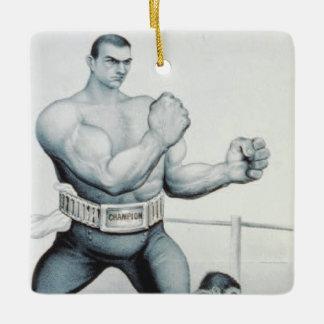 上のボクシング セラミックオーナメント