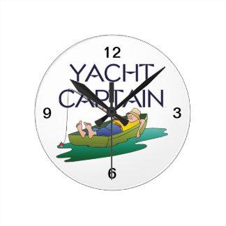 上のヨットの大尉 ラウンド壁時計