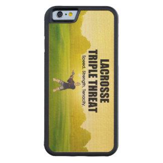 上のラクロスの三倍の脅威 CarvedメープルiPhone 6バンパーケース