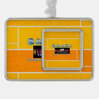 上のラケットボールの粉砕 シルバープレートフレームオーナメント