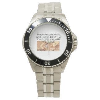上の体操のユーモア 腕時計