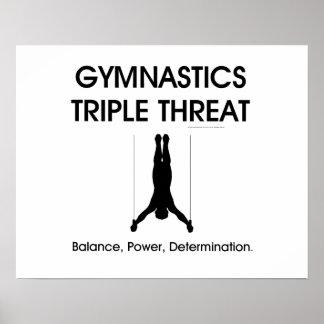 上の体操の三倍の脅威(人) ポスター
