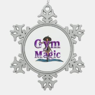 上の体育館の魔法 スノーフレークピューターオーナメント