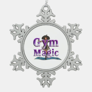 上の体育館の魔法 ピューター製スノーフレークオーナメント
