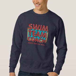 上の水泳のコーチ スウェットシャツ
