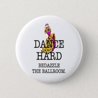 上の社交ダンスは眩まします 5.7CM 丸型バッジ