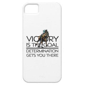 上の競馬の勝利のスローガン iPhone 5 ベアリーゼアケース