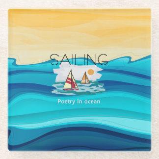 上の航行の詩歌 ガラスコースター