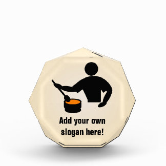 上の調理師/シェフのロゴ-テーマ台所の人 表彰盾