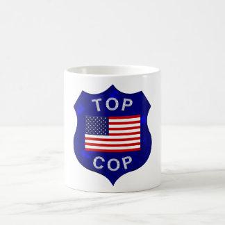 上の警察官のコーヒー・マグ コーヒーマグカップ