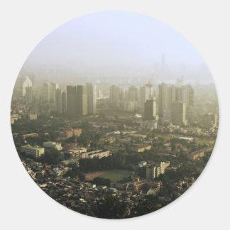 上の都市写真からのソウル ラウンドシール