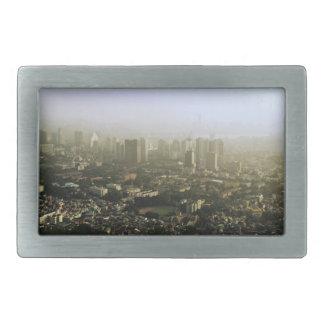上の都市写真からのソウル 長方形ベルトバックル