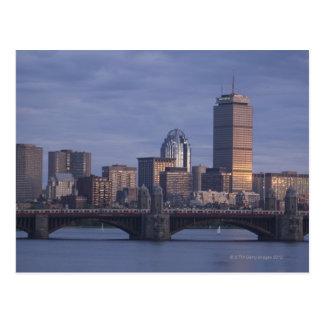 上のLongfellow橋の地下鉄 ポストカード