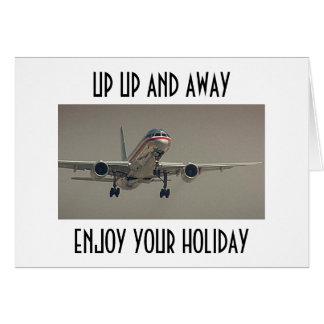 上りおよびAWAY-ENJOYの上あなたの休日 カード
