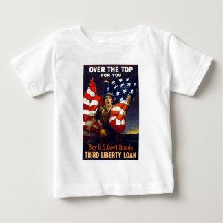 上上の愛国心が強い第1次世界大戦 ベビーTシャツ
