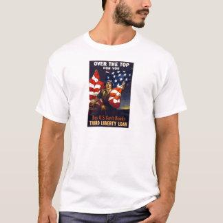 上上の愛国心が強い第1次世界大戦 Tシャツ