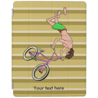 上半身裸のBMXのライダーの漫画 iPadスマートカバー