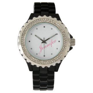 上品でモダンな女性名前入りなモノグラム 腕時計