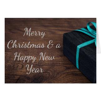 上品で包まれたなクリスマスプレゼントの挨拶状 カード