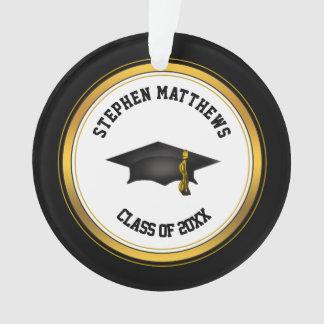 上品で名前入りな卒業の帽子およびふさ オーナメント