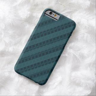 上品で暗いティール(緑がかった色)の濃紺のストライプの習慣の箱 BARELY THERE iPhone 6 ケース