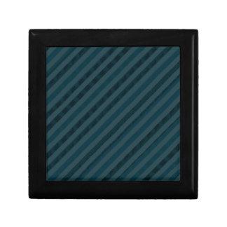 上品で暗い水及び濃紺のギフト用の箱-縞で飾ります ギフトボックス