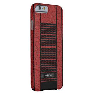 上品で赤く黒い流れる旗 BARELY THERE iPhone 6 ケース
