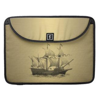 上品で魅力的な金一見の古代船 MacBook PROスリーブ