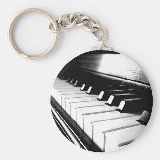 上品で黒く及び白いピアノ写真撮影 キーホルダー