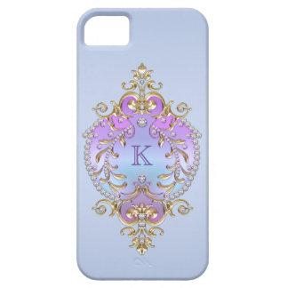 上品で、華美なダイヤモンドのモノグラム iPhone SE/5/5s ケース