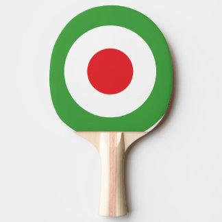 上品なイタリアの旗のデザイン ピンポンラケット