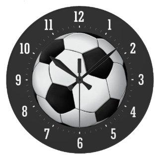 上品なサッカーボール|のクールなギフト ラージ壁時計