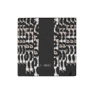 上品なチータの黒パターン ストーンマグネット