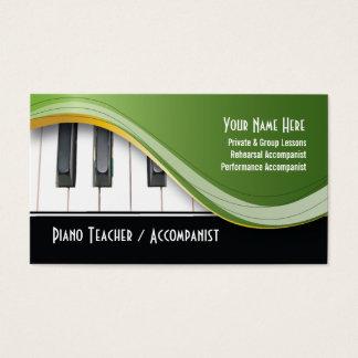 上品なピアノの教師の名刺 名刺
