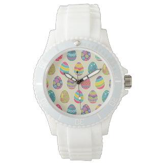 上品なレトロのイースターエッグのハッピーイースター日 腕時計