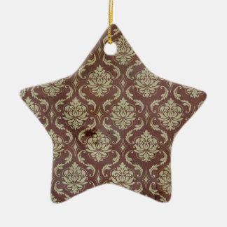 上品なヴィンテージのダマスク織の壁紙パターン セラミックオーナメント