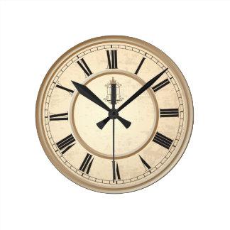 上品なヴィンテージの鳥かごの装飾的な時計 ラウンド壁時計