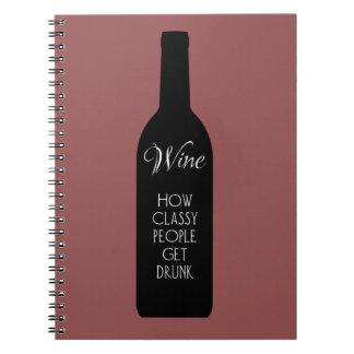 上品な人々がいかに醉っているか、ワイン ノートブック