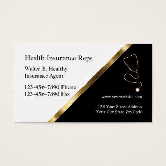 上品な健康保険の名刺 名刺