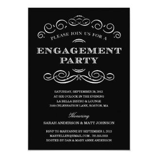 上品な婚約%PIPE%の婚約パーティの招待 カード