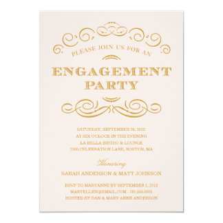 上品な婚約%PIPE%の婚約パーティの招待 12.7 X 17.8 インビテーションカード