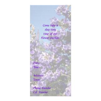 上品な木の紫色の花 ラックカード