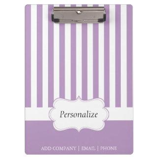 上品な紫色のラベンダーは| DIYの文字を縞で飾ります クリップボード