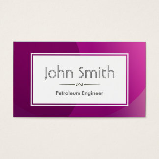 上品な紫色の石油エンジニアの名刺 名刺