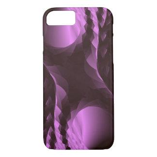 上品な紫色の黒の抽象芸術 iPhone 7ケース