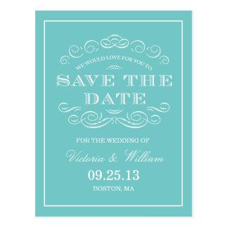 上品な結婚式%PIPE%のセーブ・ザ・デート案内 ポストカード