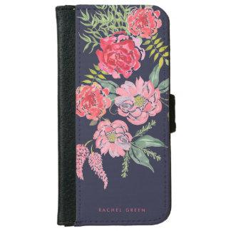 上品な花の電話ウォレットケース iPhone 6/6S ウォレットケース