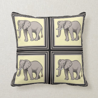 上品な象のタイルの装飾用クッション クッション