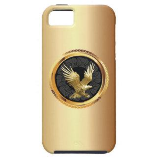 上品な金ゴールドのワシのバッジのiPhone 5の場合 iPhone SE/5/5s ケース